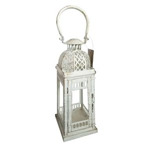 Gallery of Light Accents - 🆕Moroccan Inspirational White Distressed Lantern